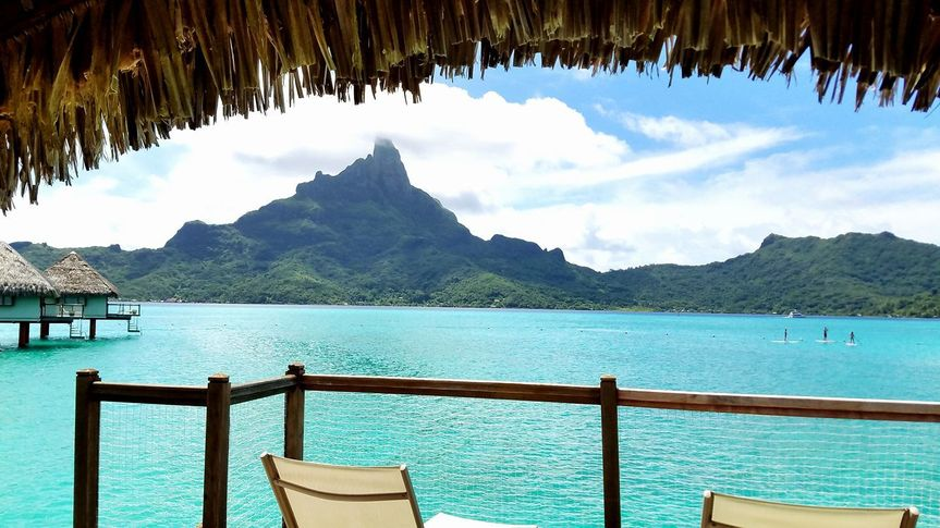 View from Over the Water Bungalow, Bora Bora