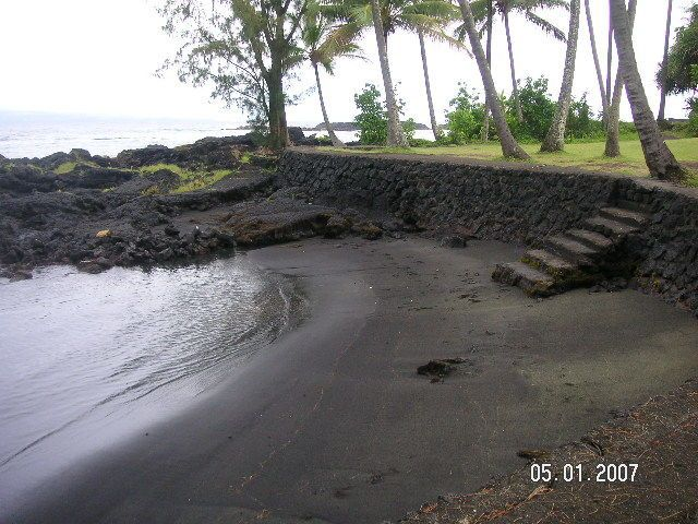 Hilo, Big Island, Hawaii Black Sand Beach