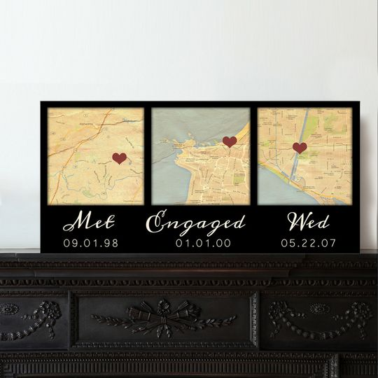 map canvas i do met engaged map art black
