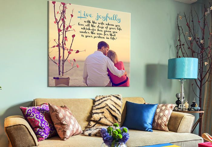 Personalized Photo canvas couples gift