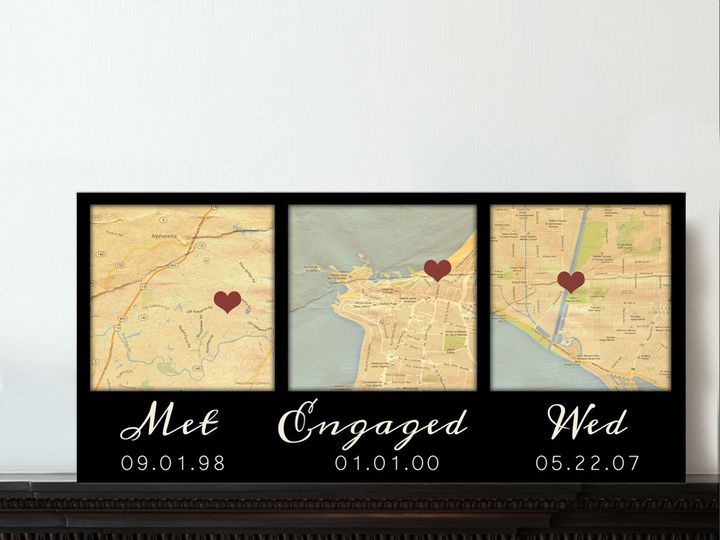 Tmx 1458055656314 3 Map Canvas I Do Met Engaged Map Art Black Easton wedding favor
