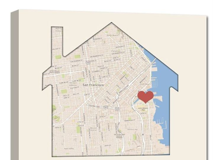 Tmx 1458055930267 Canvas Map House Shaped Map Easton wedding favor