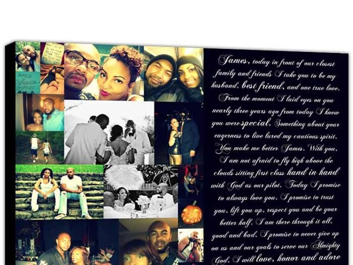 Tmx 1458056053810 Engagement Photo Collage Art Canvas Poem Easton wedding favor