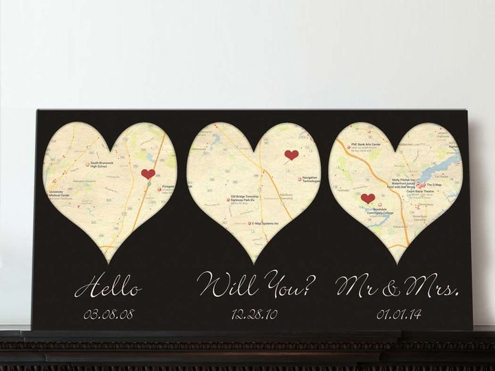 Tmx 1458056065818 Heart Map Canvas Art 3 Locations Easton wedding favor