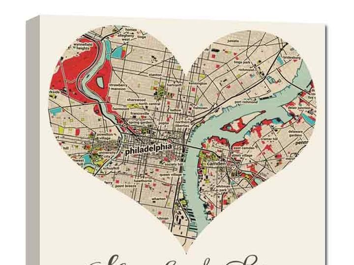 Tmx 1458056071416 Heart Shaped Map With Name And Date Couple Gift Easton wedding favor