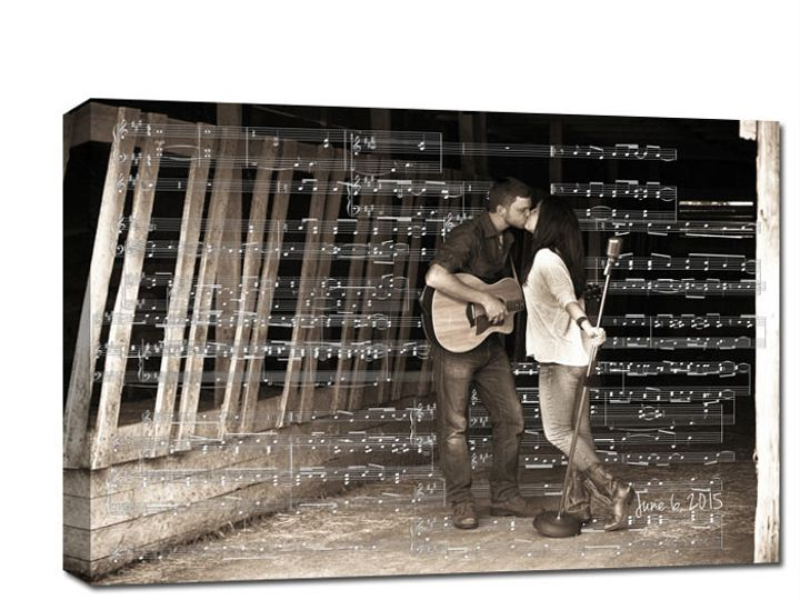 Tmx 1458056373757 Sheet Music Over Photo Of Couple As Gift Easton wedding favor