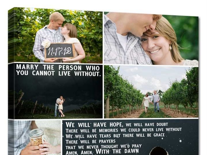 Tmx 1458056484414 Wedding Photos On Canvas Collage Words Easton wedding favor