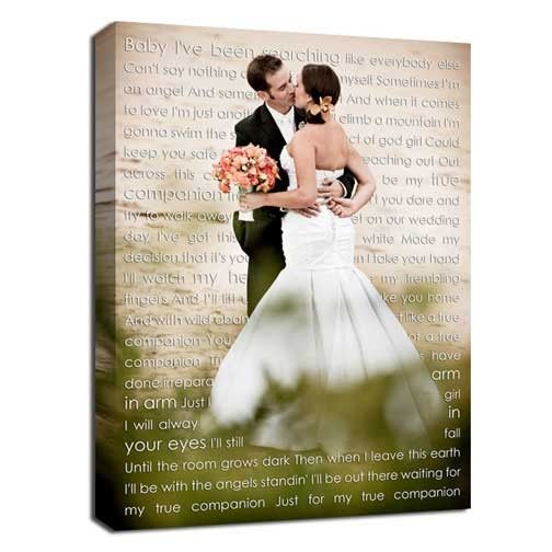Tmx 1458056499543 Words Over Photo Canvas Wedding Night Gift Easton wedding favor