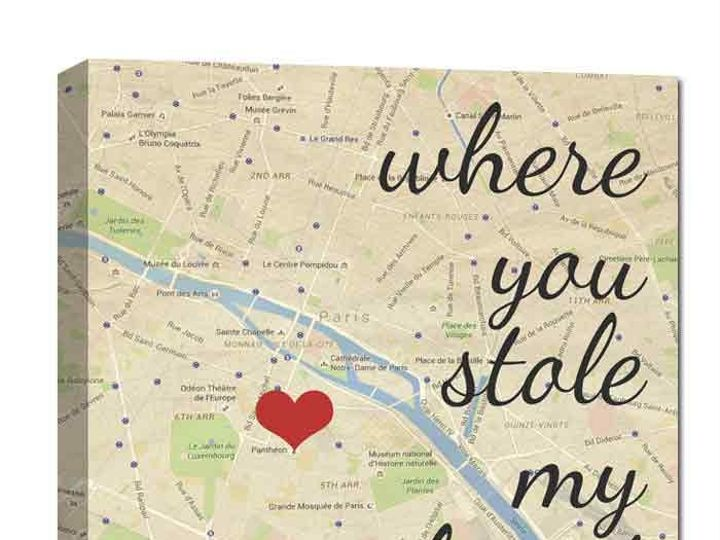Tmx 1458056503591 You Stole My Hearrt Map Canvas Easton wedding favor