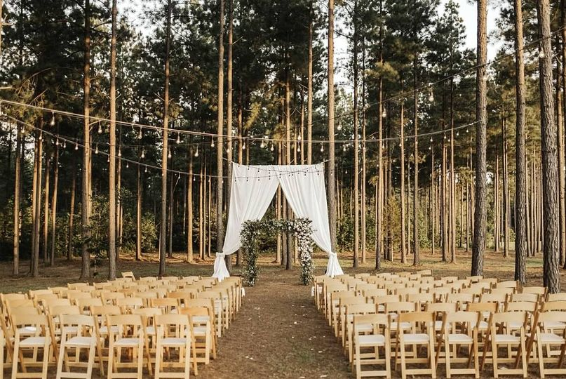 Ceremony in the pine trees