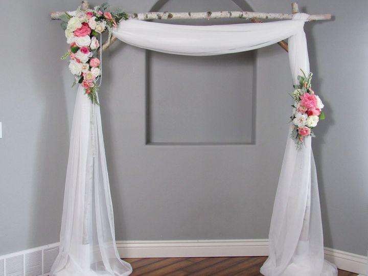 Birch wedding arch