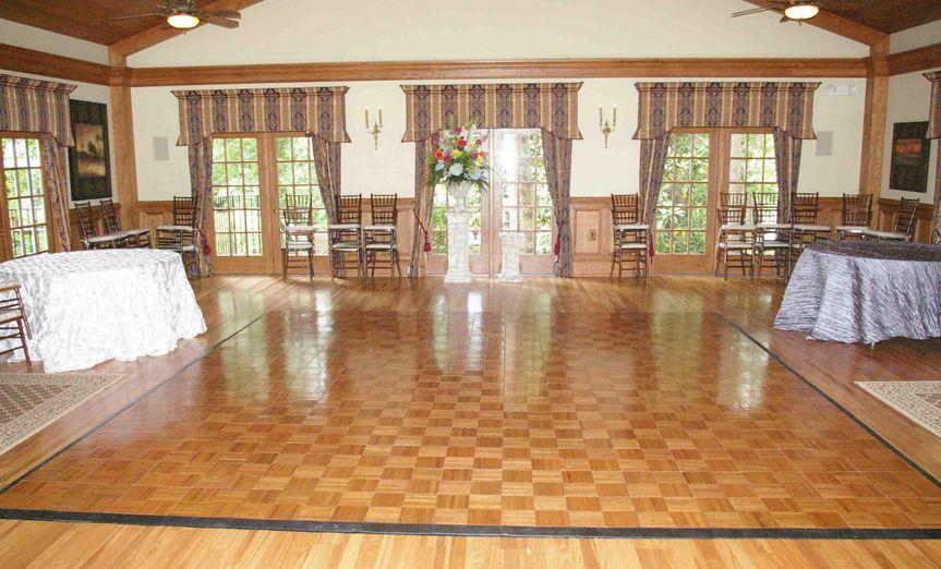 Oak dance floor