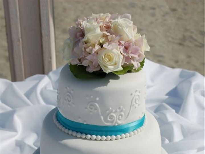 Tmx 1281052054767 AquaRibbonCake02 Ramona, CA wedding cake
