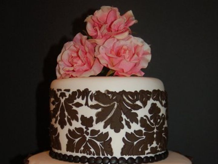 Tmx 1281052057251 BlackStencilCake01 Ramona, CA wedding cake