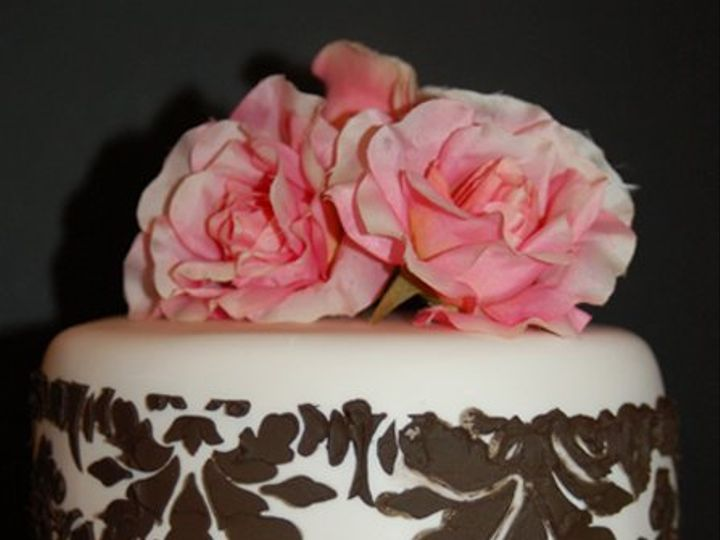 Tmx 1281052058455 BlackStencilCake02 Ramona, CA wedding cake