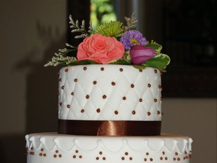 Tmx 1281052061892 BrownRibbonCake01 Ramona, CA wedding cake