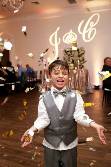 Kid at the wedding