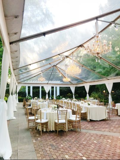 An elegant reception in tent