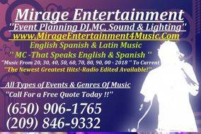 Mirage Entertainment Event Planning,DJ&MC Sound & Lighting Sevice