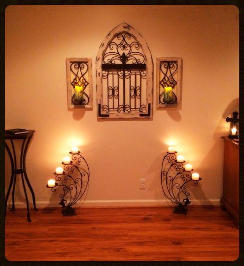 wedding corner warm glow