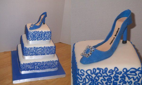 Tmx 1257287780750 3tiershoe Garner wedding cake