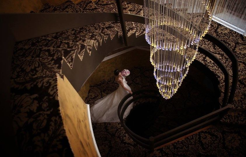 The bride in the staircase