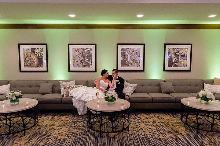 The couple enjoys the lounge