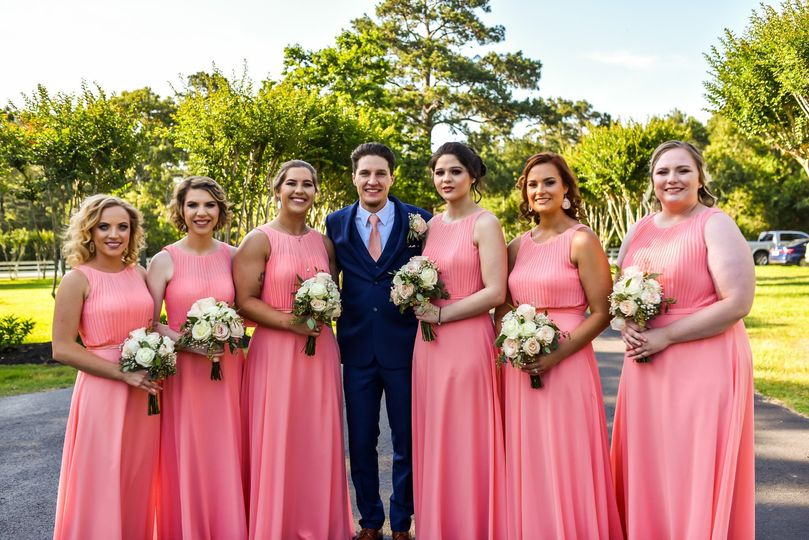 Styled bridesmaids