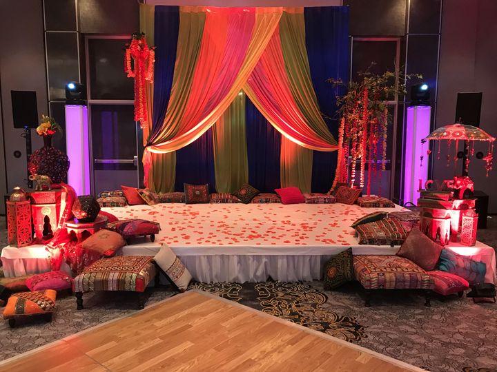 Wedding couple area