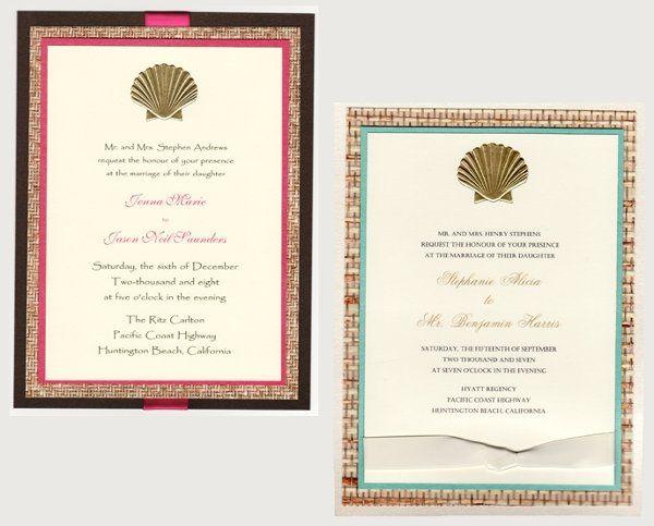 Tmx 1223331056719 SCALLOPSHELLBEACHINVITATIONS Natick wedding invitation