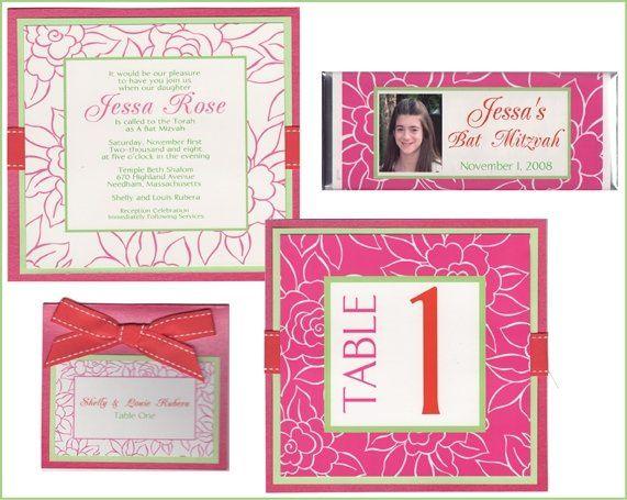 Tmx 1226621908580 JesaRosaPinkFloweredinvitationenemble Natick wedding invitation