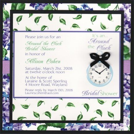 Tmx 1226621972424 AroundtheClockHydrangea Natick wedding invitation