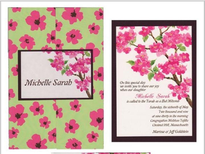 Tmx 1268833664520 MICHELLESARAHENSEMBLE Natick wedding invitation