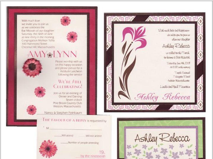 Tmx 1268833764535 BATMITZVAH3STYLES Natick wedding invitation