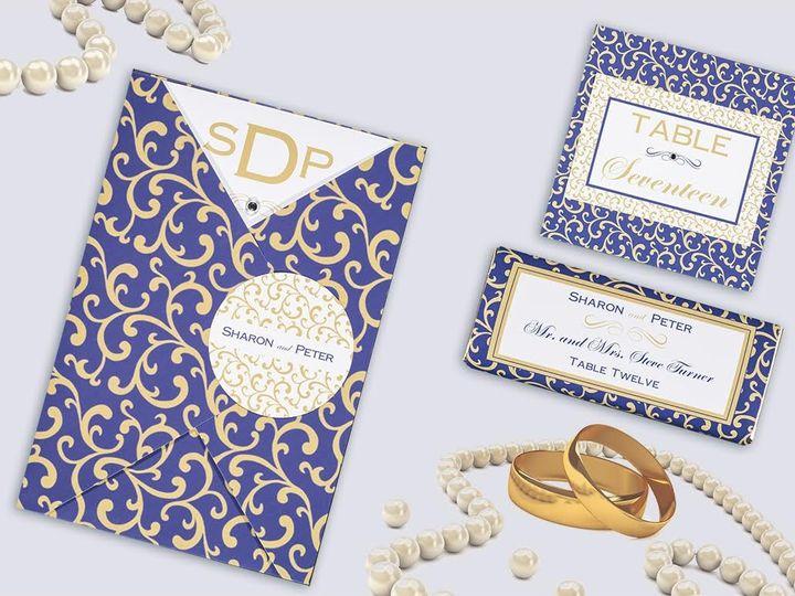 Tmx 1479859430295 Purple And Gold Swirl Suite Natick wedding invitation