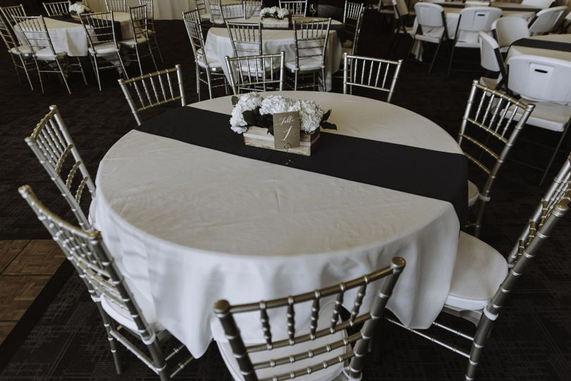 Banquet hall set