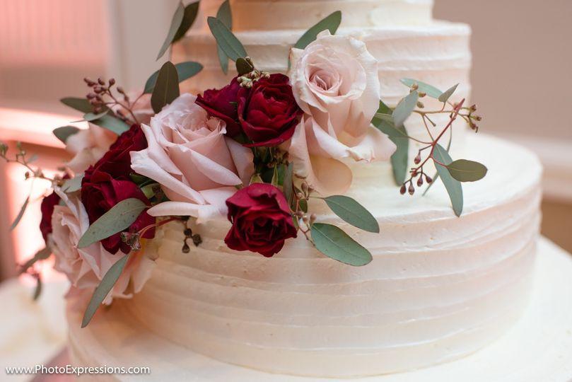 Custom wedding cake.