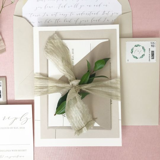 Packaged wedding invite