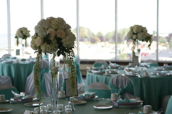 Tiffany blue wedding receptions