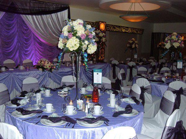 Purple wedding receptions