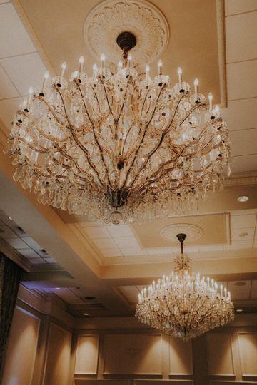 Large chandelier