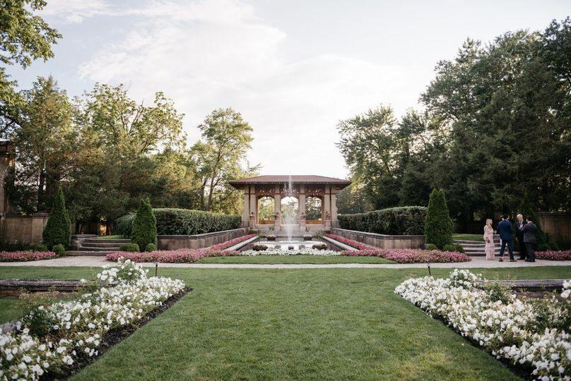 Enjoy the natural beauty of our gardens, reflection pool and pagoda for your ceremony.