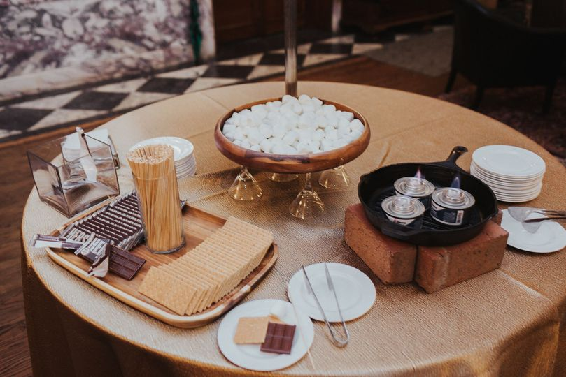 S'mores station is always a good idea.