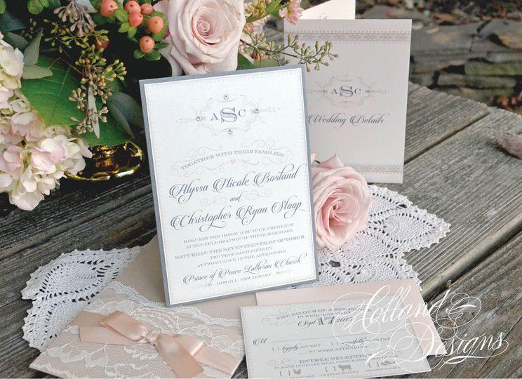 Beige invitation design