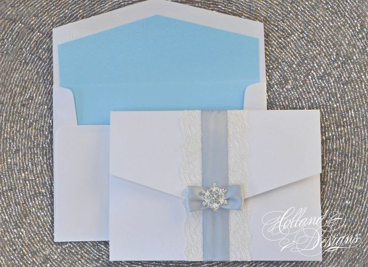 Sky blue lining in the envelope