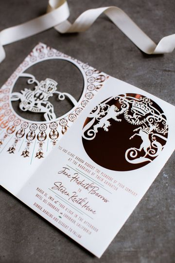 Lasercut and foil invite