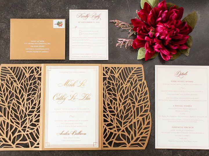 Tmx Whimsiquegoldlaserred 114 51 360926 San Diego, California wedding invitation
