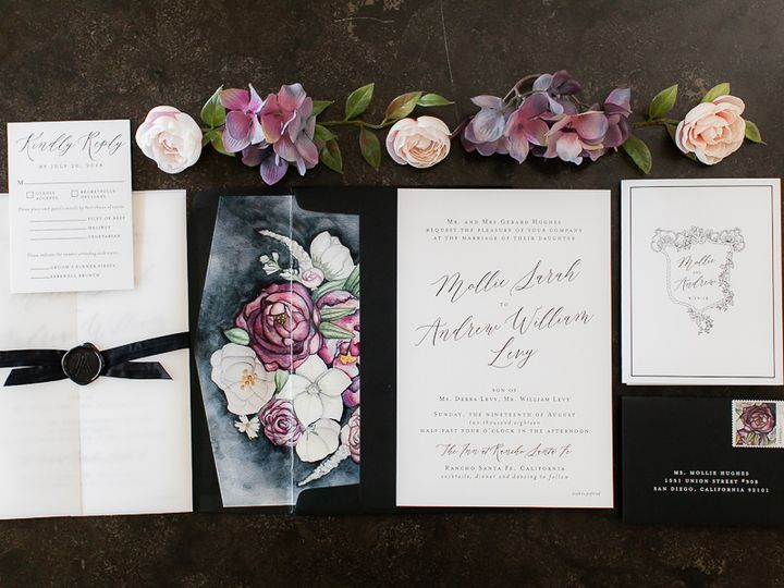 Tmx Whimsiquepinkpurpleflower 106 51 360926 San Diego, California wedding invitation