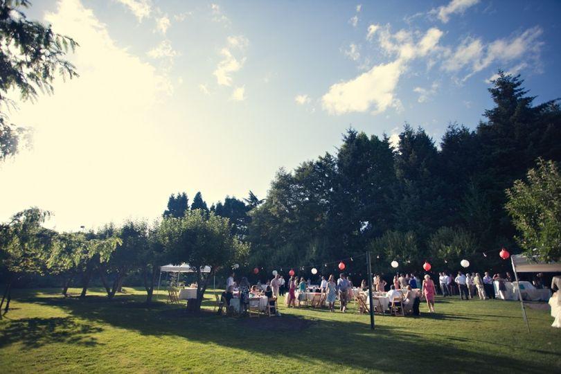 Reception in the Orchard, McMenamins Cornelius Pass Roadhouse