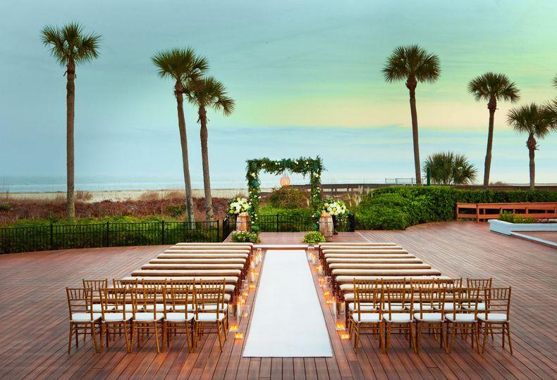 Oceanfront Deck Ceremony